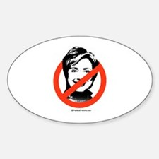 No to Hillary Oval Decal