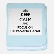 Keep Calm by focusing on The Panama C baby blanket