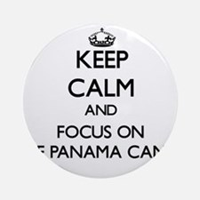 Keep Calm by focusing on The Pana Ornament (Round)