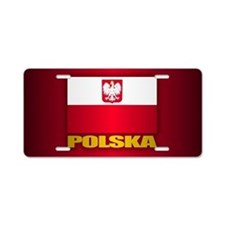 Polska Aluminum License Plate