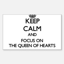 Keep Calm by focusing on The Queen Of Hear Decal