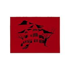 haunted house 5'x7'Area Rug