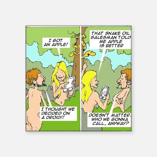Adam & Eve & Phone Sticker