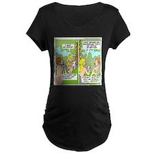 Adam & Eve & Phone Maternity T-Shirt
