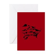 haunted house Greeting Cards