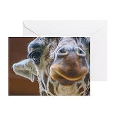 Giraffe Lips Greeting Cards