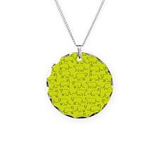 Yelow kitty pattern Necklace