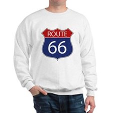 Route 66 Road Sign Sweatshirt