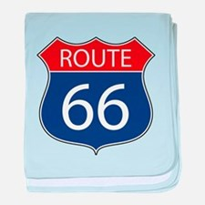 Route 66 Road Sign baby blanket