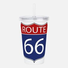 Route 66 Road Sign Acrylic Double-wall Tumbler