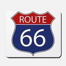 Route 66 Road Sign Mousepad