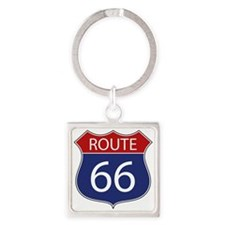 Route 66 Road Sign Keychains