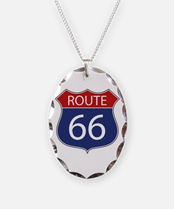 Route 66 Road Sign Necklace