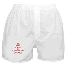 Keep Calm by focusing on Licorice Boxer Shorts