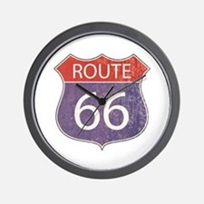 Route 66 Road Sign Wall Clock