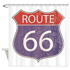 Route 66 Road Sign Shower Curtain