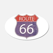 Route 66 Road Sign Wall Decal