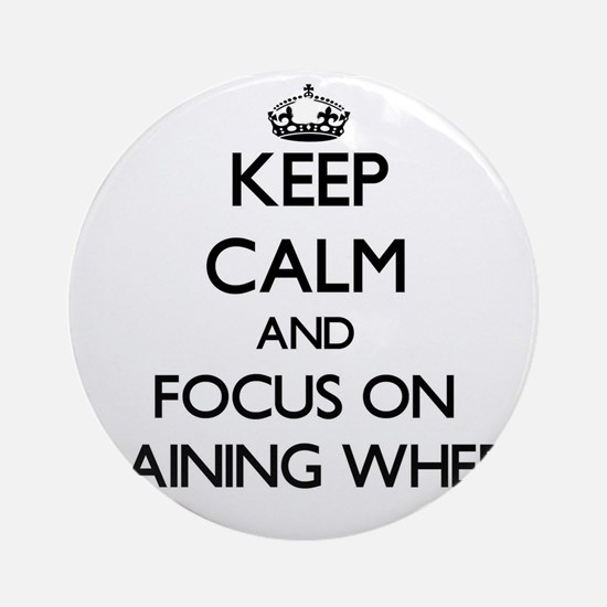 Keep Calm by focusing on Training Ornament (Round)