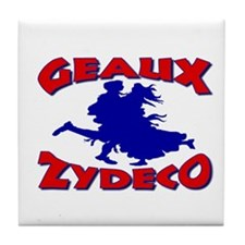 Geaux Zydeco Tile Coaster