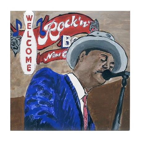 New Orleans Blues Singer Tile Coaster