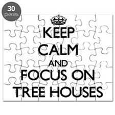 Keep Calm by focusing on Tree Houses Puzzle
