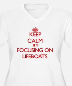 Keep Calm by focusing on Lifeboa Plus Size T-Shirt