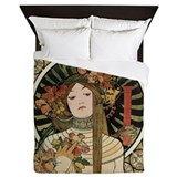 Alphonse mucha Luxe Full/Queen Duvet Cover