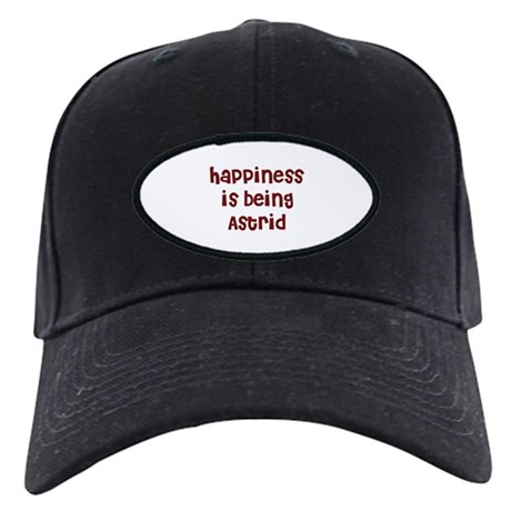 happiness is being Astrid Black Cap
