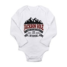 Jackson Hole Vintage Long Sleeve Infant Bodysuit