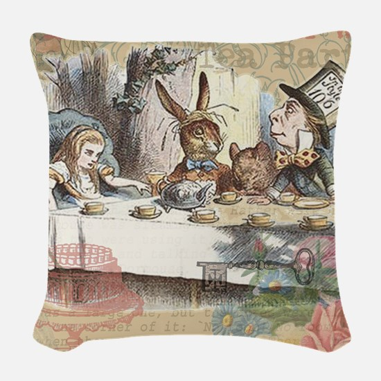 Mad Tea Party Alice in Wonderland Woven Throw Pill