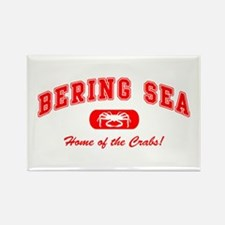 Bering Sea Home of the Crabs! Red Rectangle Magnet