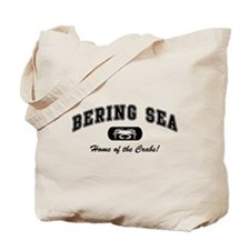 Bering Sea Home of the Crabs! Black Tote Bag