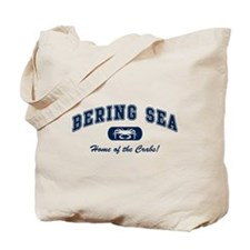 Bering Sea Home of the Crabs! Navy Tote Bag