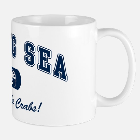 Bering Sea Home of the Crabs! Navy Mug