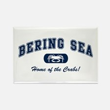 Bering Sea Home of the Crabs! Navy Rectangle Magne