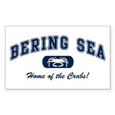 Bering Sea Home of the Crabs! Navy Decal