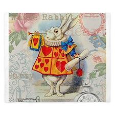 White Rabbit Alice in Wonderland King Duvet