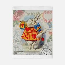 White Rabbit Alice in Wonderland Twin Duvet