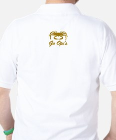 Bering Sea Home of the Crabs! Gold Golf Shirt
