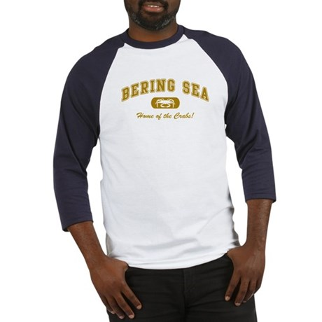 Bering Sea Home of the Crabs! Gold Baseball Jersey