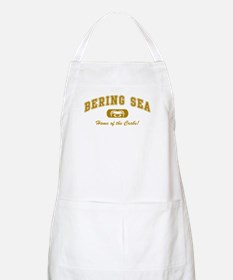 Bering Sea Home of the Crabs! Gold BBQ Apron