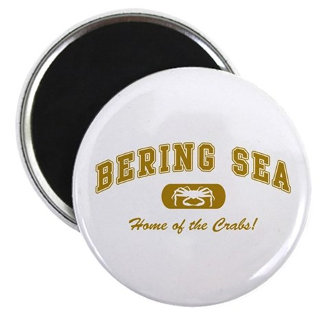 Bering Sea Home of the Crabs! Gold Magnet