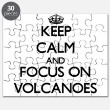 Keep Calm by focusing on Volcanoes Puzzle