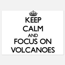 Keep Calm by focusing on Volcanoes Invitations