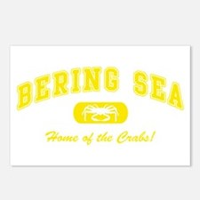 Bering Sea Home of the Crabs! Yellow Postcards (Pa
