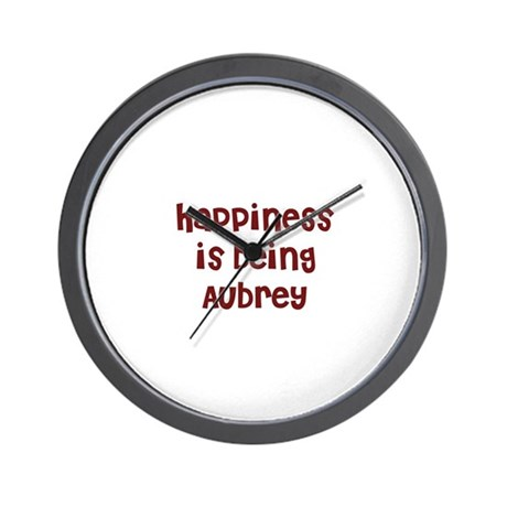 happiness is being Aubrey Wall Clock