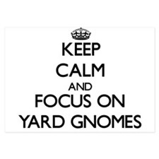 Keep Calm by focusing on Yard Gnomes Invitations