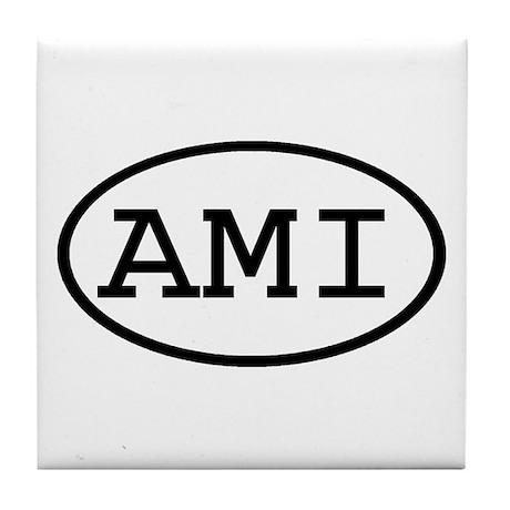 AMI Oval Tile Coaster