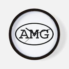 AMG Oval Wall Clock