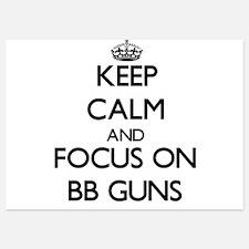 Keep Calm by focusing on Bb Guns Invitations